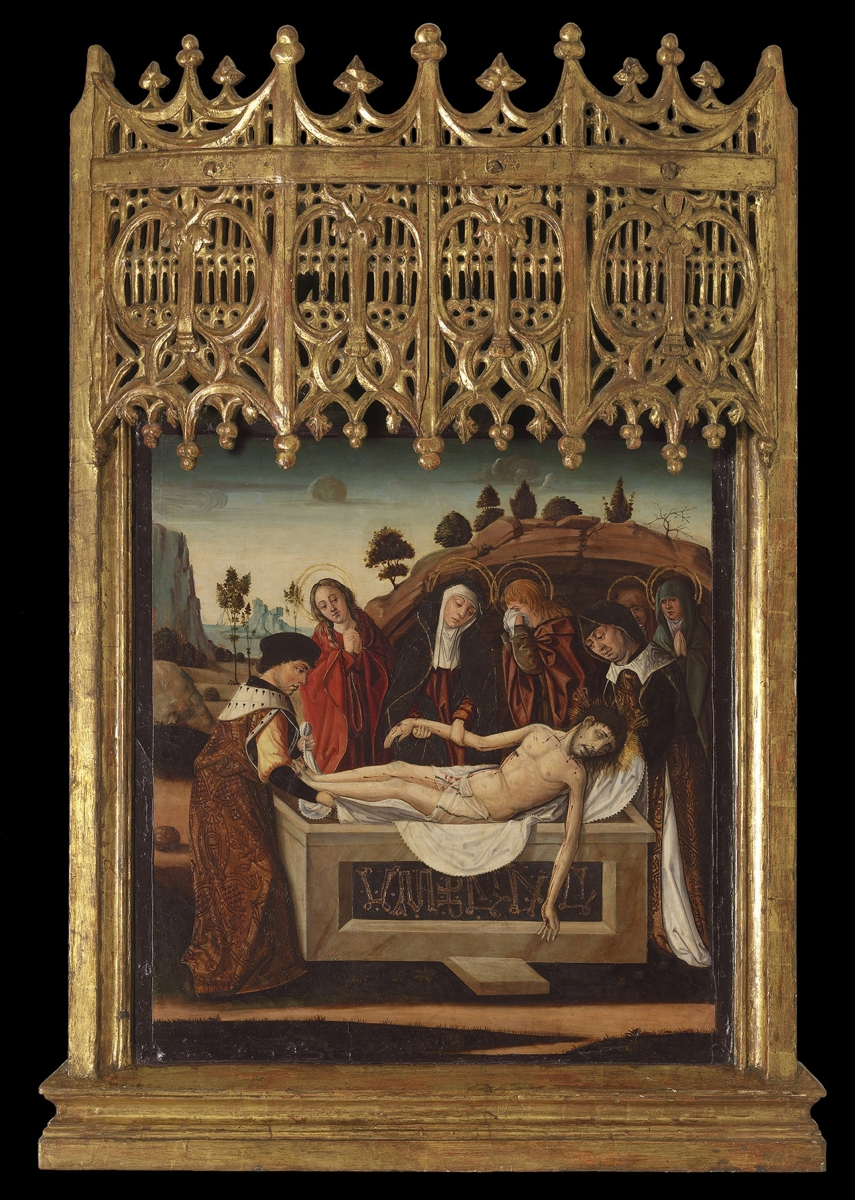 The Burial of Christ, Franciso de Osona(c. 1465 – Valencia – c. 1514), c. 1500 &nda