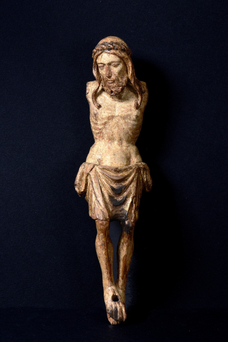 Cristo Morto, Workshop of Moranzone (Moronzone) ?, Italy, Venice, early 15th century