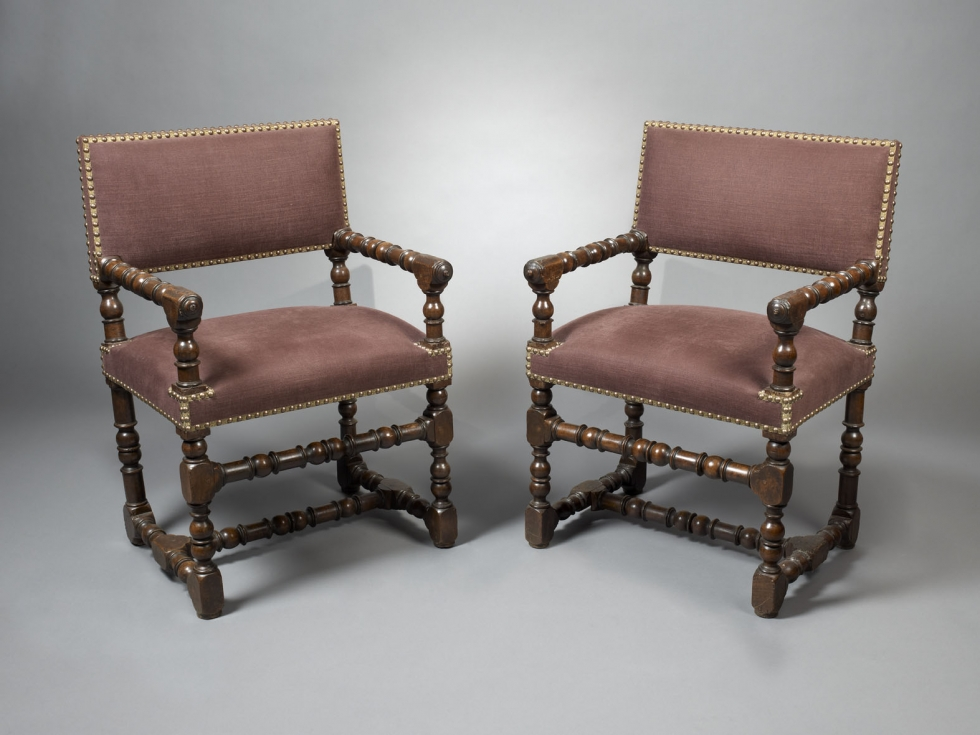 A Pair of Louis XIII Fauteuils, France, first half 17th century