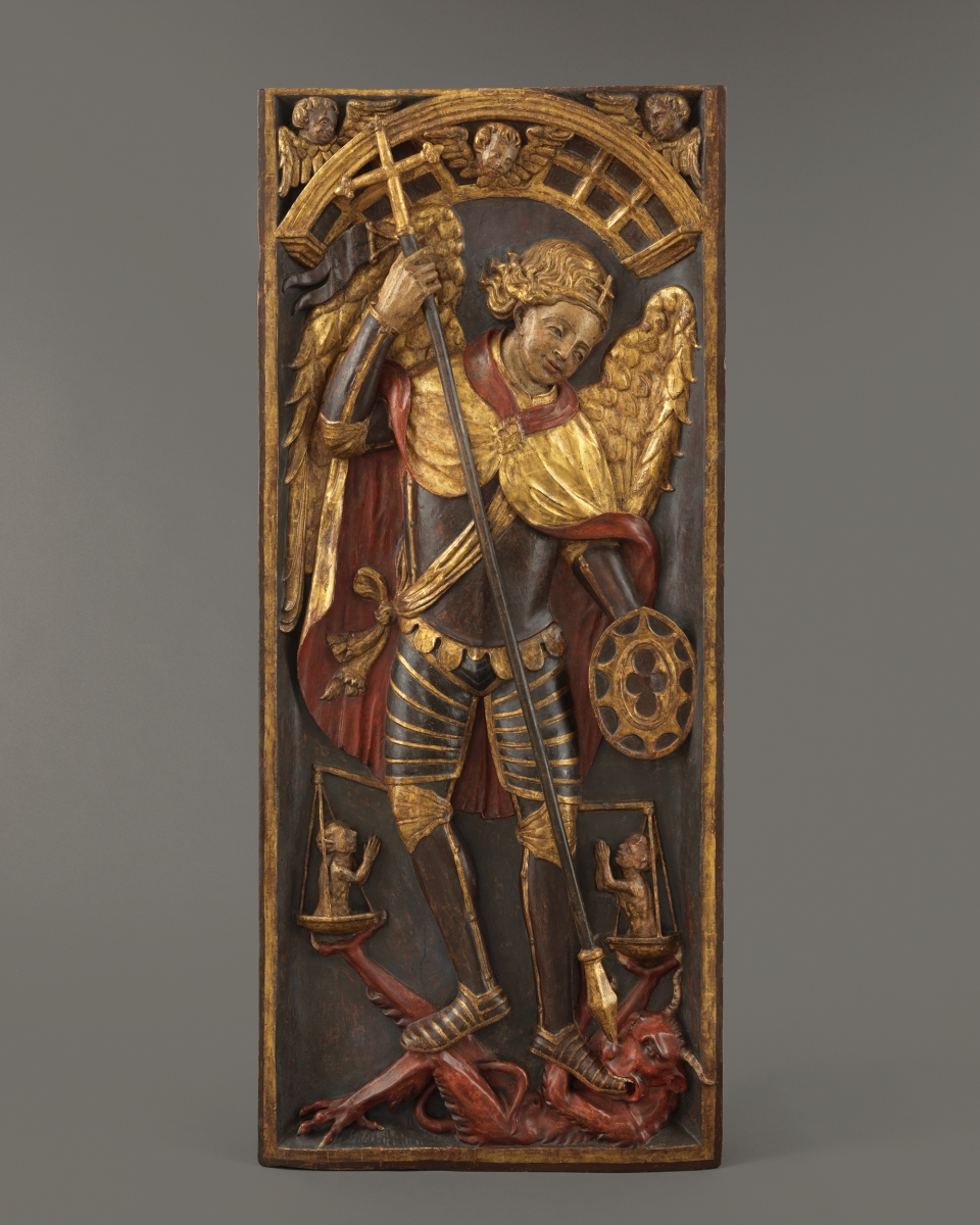 Retable Panel with Saint Michael and the Devil, Spain, first quarter 16th century