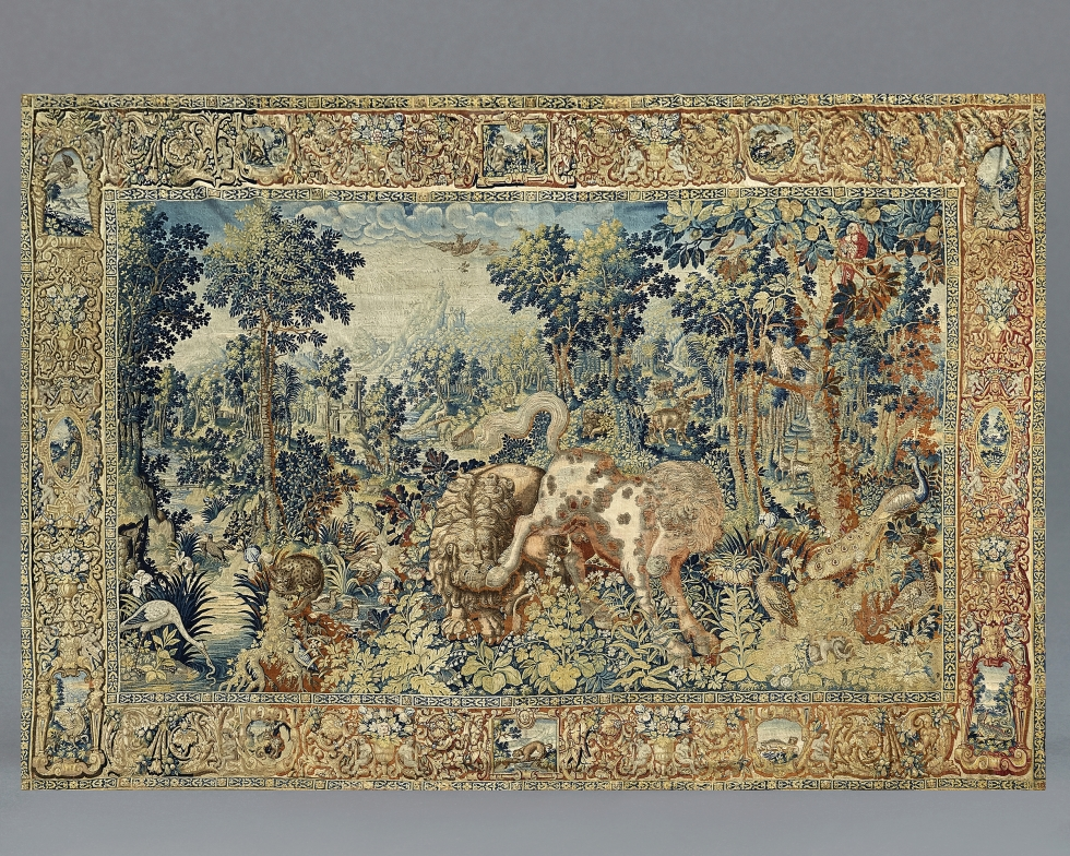 A 'Pugnae Ferarum' Tapestry, Workshop of Jan RaesFlemish, Brussels, c. 1600