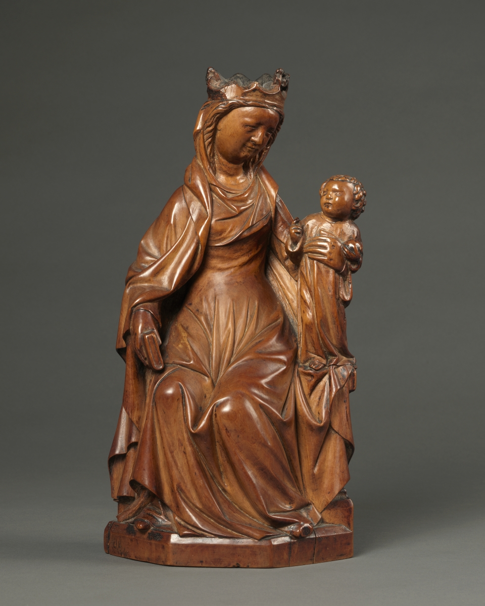 Enthroned Virgin and Child, Mosan, first half 14th century